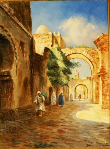 Louis MAISONNEUVE - Gemälde - Ruelle
