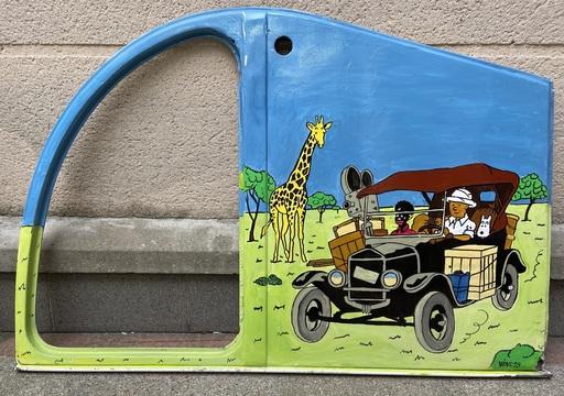 VINC - Gemälde - Portière de 2CV - Tintin au Congo