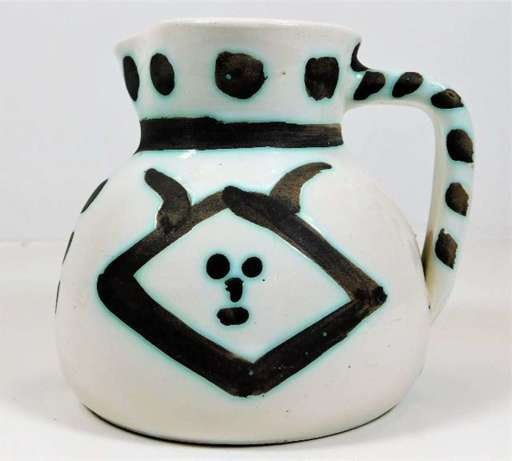 Pablo PICASSO - Céramique - Pichet Tetes