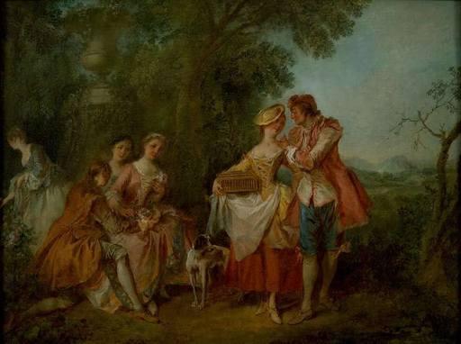 Nicolas LANCRET - Painting - Fète Champètre