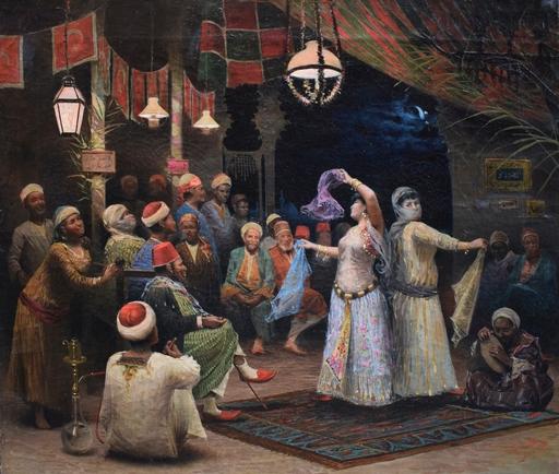 Alberto FABBI - Pintura - The bayaderes in Cairo