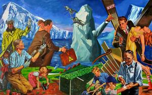 BONDERO - Painting - Development of the Arctic    (Cat N° 4784)