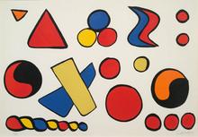 Alexander CALDER - Estampe-Multiple - Composition aux formes géométriques