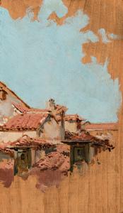 Joaquín SOROLLA Y BASTIDA - Pintura - TEJADOS DE MADRID