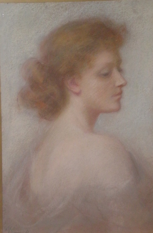 M. GEMMELL - Pittura - A beautiful young lady