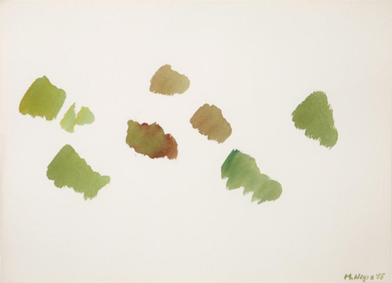 Mario NIGRO - Drawing-Watercolor - Senza titolo