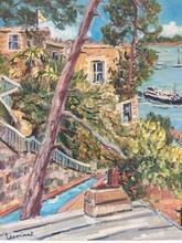 Anne DE LARMINAT - Painting - Vue sur Castelbrac