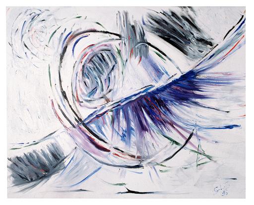 Florence SOLVAY - Painting - Aureola blue