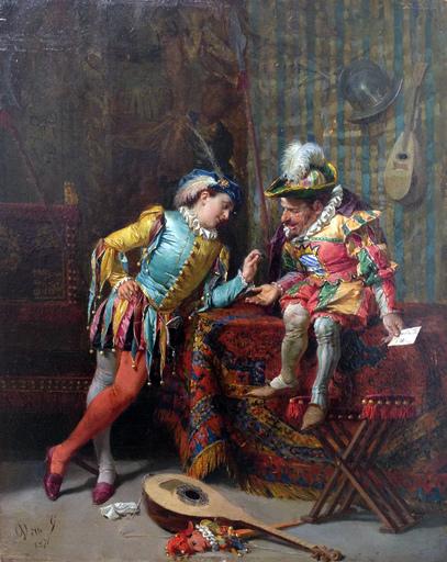 Cesare Augusto DETTI - Peinture - I giullari