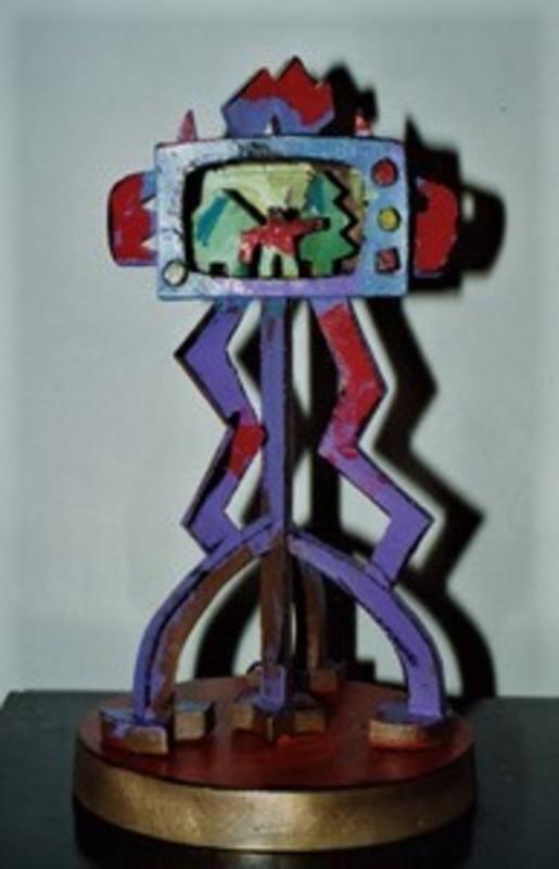 Ugo NESPOLO - Sculpture-Volume - La televione