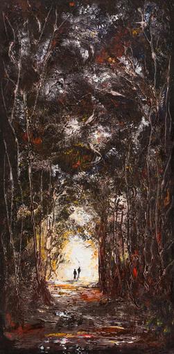 Danielle MAILLET-VILA - Painting - Lumière en foret