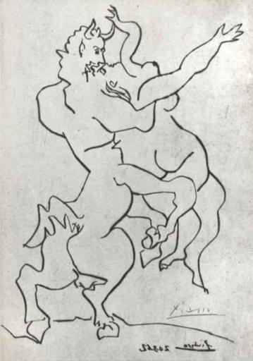 巴勃罗•毕加索 - 版画 - Gavilla de Fabulas sin amor