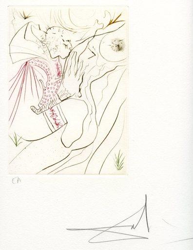 萨尔瓦多·达利 - 版画 - GRAVURE SIGNÉE CRAYON ANNOTÉE EA ML552 HANDSIGNED ETCHING