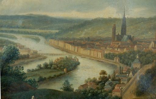 Richard Parkes BONINGTON - Pintura - vue générale de Rouen