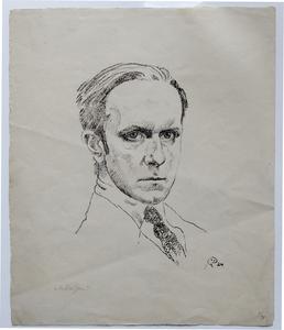 Mstislav Valerianovic DOBUZINSKIJ - Grabado - Self portrait