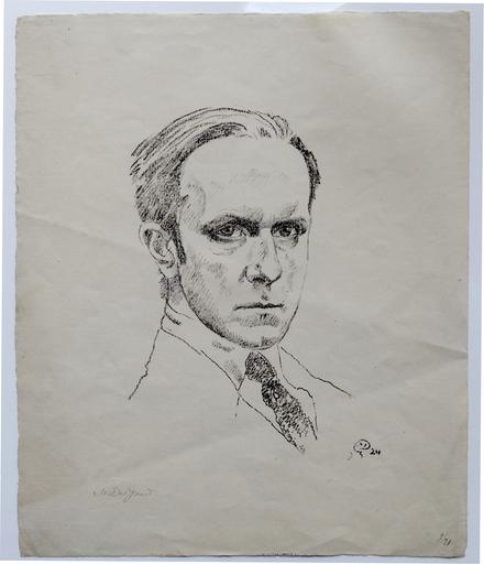 Mstislav Valerianovic DOBUZINSKIJ - Stampa-Multiplo - Self portrait