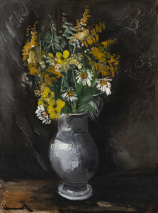 Maurice DE VLAMINCK - Gemälde - Bouquet de fleurs