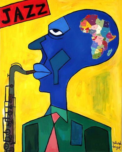 Richard BOIGEOL - Gemälde - Jazz