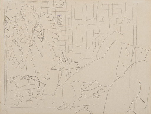 亨利·马蒂斯 - 水彩作品 - Le peintre et son modèle