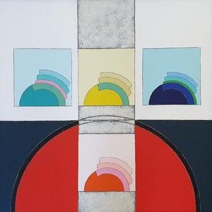 Eugenio CARMI - Painting - In attesa