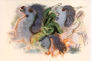 Reuven RUBIN - Print-Multiple - Horsemen of The Negev