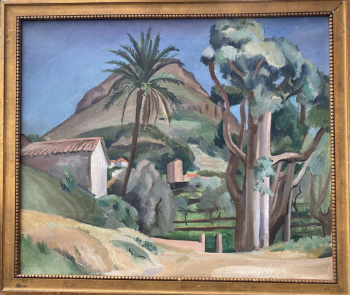Jean Hippolyte MARCHAND - Painting - Landschaft in der Provence