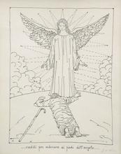 乔治•德•基里科 - 版画 - Caddi per adorare ai piedi dell'angelo