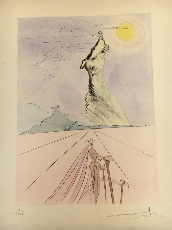 "Salvador DALI - Print-Multiple - Benjamin aus ""Die zwölf Stämme Israels"""