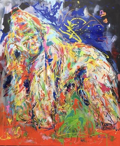 Nicole LEIDENFROST - Gemälde - Affentheater