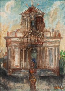 Franco GENTILINI - Painting - CATTEDRALE