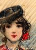 Ulpiano CHECA Y SANZ - Zeichnung Aquarell - Femme - Toreadora - Torero