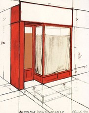 CHRISTO - Print-Multiple - Red Store Front