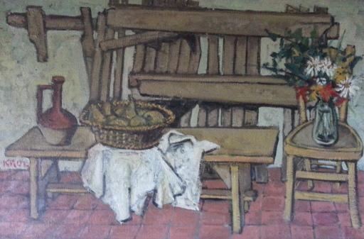 Abraham KROL - Pintura - Le Torchon blanc