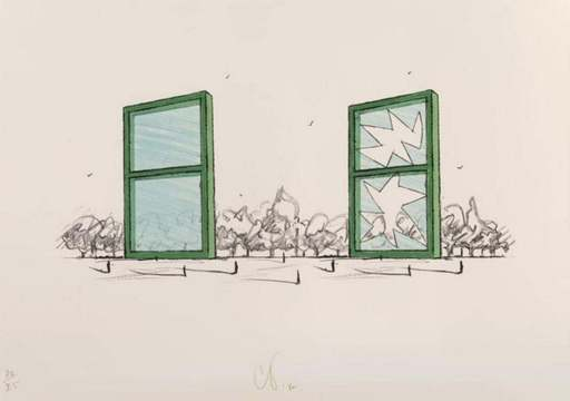 Claes Thure OLDENBURG - Print-Multiple - Study for a Civic Monument in the form of two windows