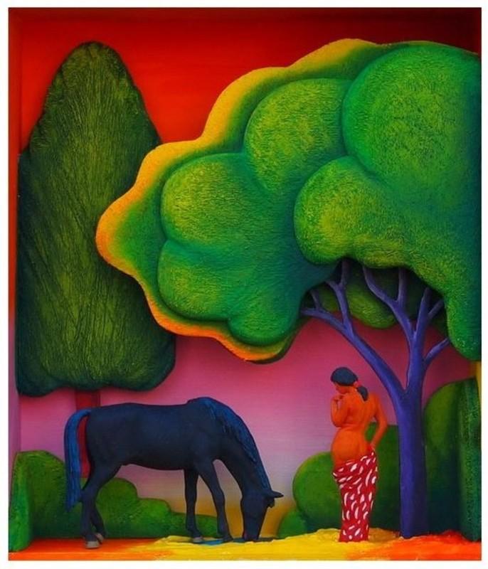Volker KÜHN - Escultura - The garden of Paul Gauguin