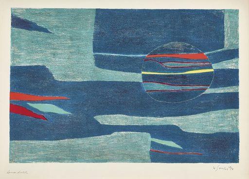 Gustave SINGIER - Grabado - Provence : soleil, mer froide