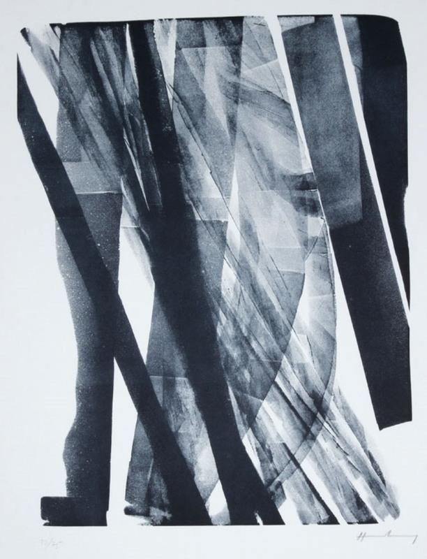 Hans HARTUNG - Estampe-Multiple - L-1973-34, 1973.