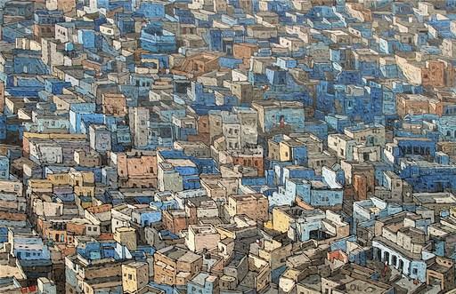 Olivier LAVOREL - Pittura - 1803 - Jodhpur