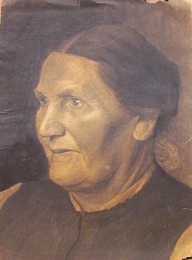 Erich HARTMANN - Dibujo Acuarela - 19989: Frauenporträt im Halbprofil.
