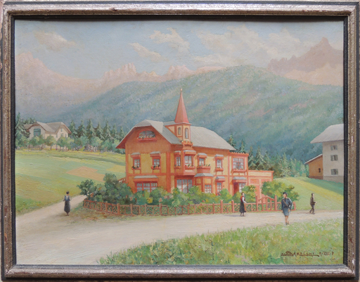 Aldo SARACCHI - Painting - Cortina d'Ampezzo villa Ida