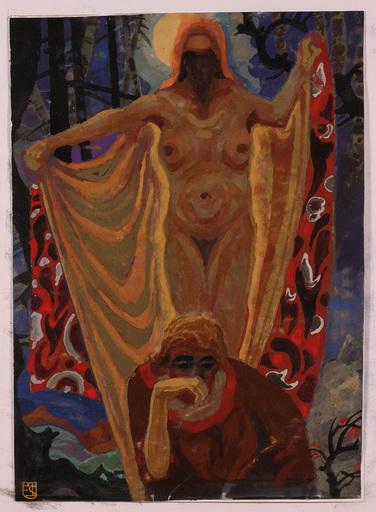 "Erwin STOLZ - Gemälde - ""Dream"" by Erwin Stolz, Tempera, ca 1925"