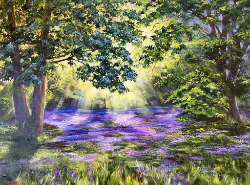 Diana MALIVANI - Pittura - In the Shade of the Wood