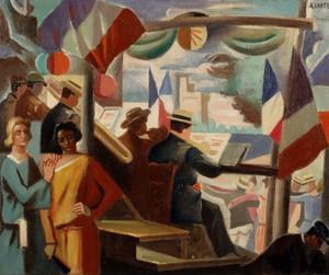 André LHOTE - Painting - 14 juillet en Avignon
