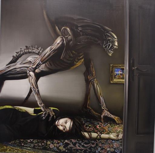 Anna SELINA - Painting - The Minotaur's Sister