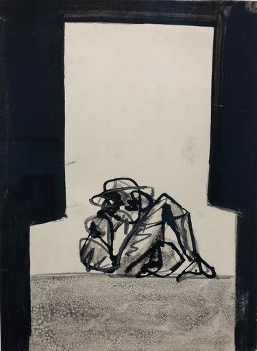 Antonio SAURA - Drawing-Watercolor - Mujer sillón