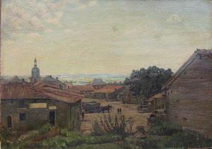 Ernst GENTZEL - 绘画 - Märkisches Dorf