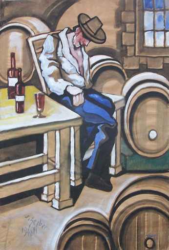 Hugo SCHEIBER - Painting -  At the Winery
