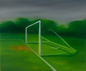 Martin AITKEN - Painting - « Because of the storm, the match was cancelled »