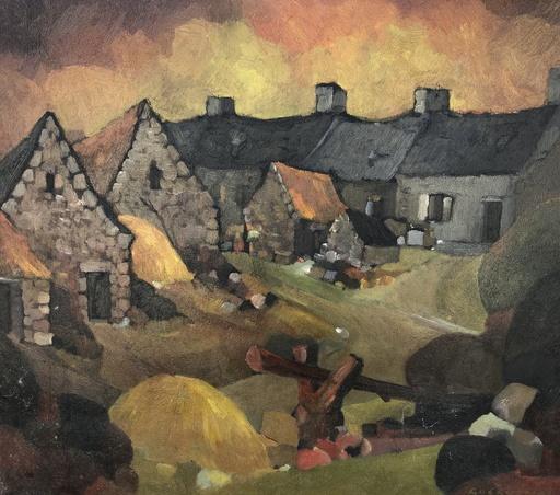 Gérard GUÉGUÉNIAT - Painting - Le village