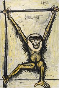 Bernard BUFFET - Painting - Gibbon